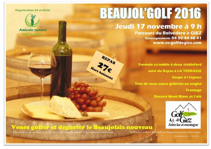 Affiche beaujol golf 2016