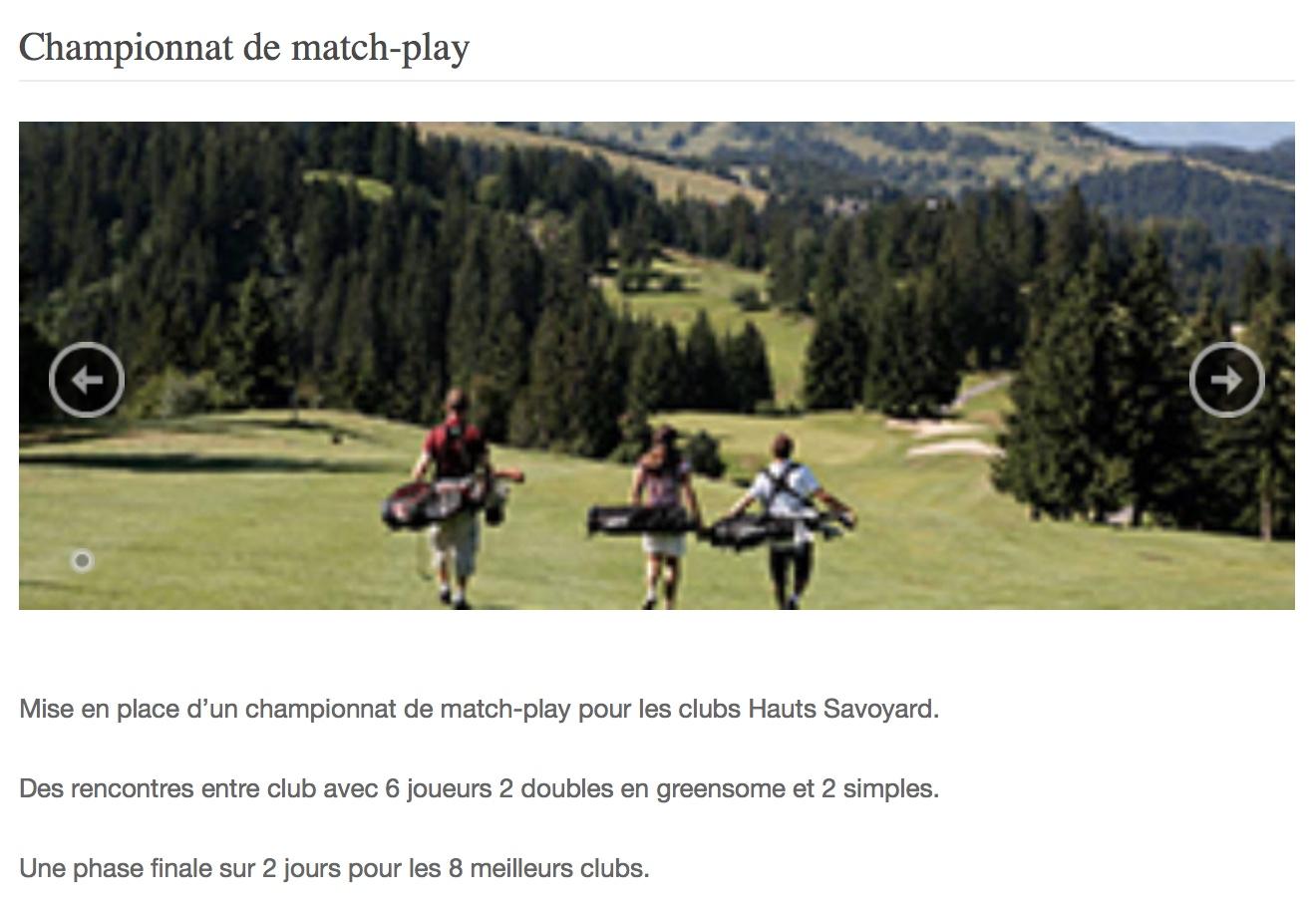 Championnat 74 match play